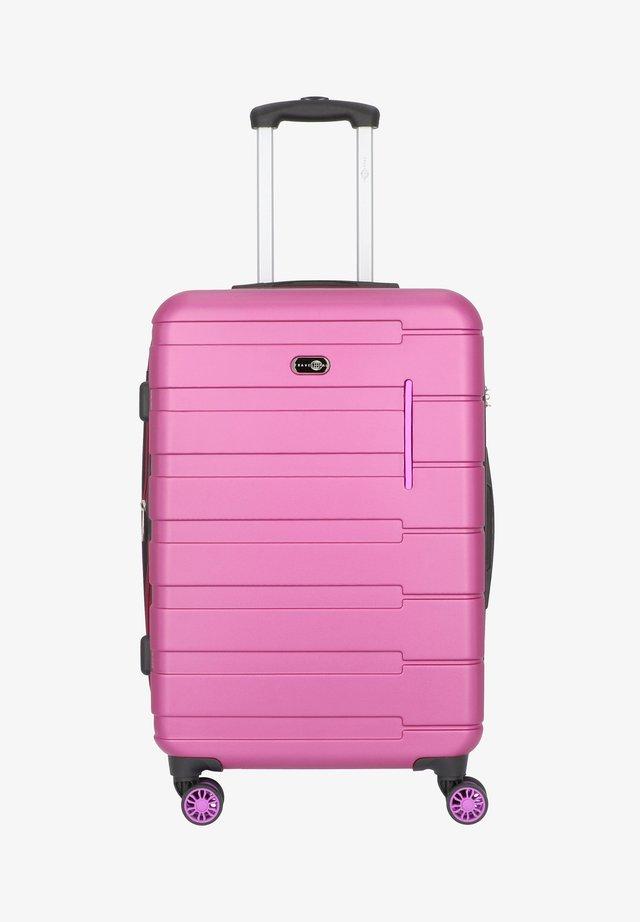 MÜNCHEN 4-ROLLEN TROLLEY 67 CM - Wheeled suitcase - beere pink