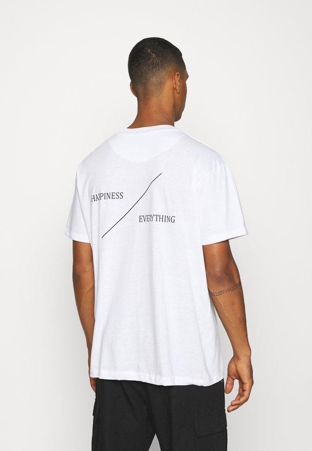 HAPPY - Print T-shirt - white