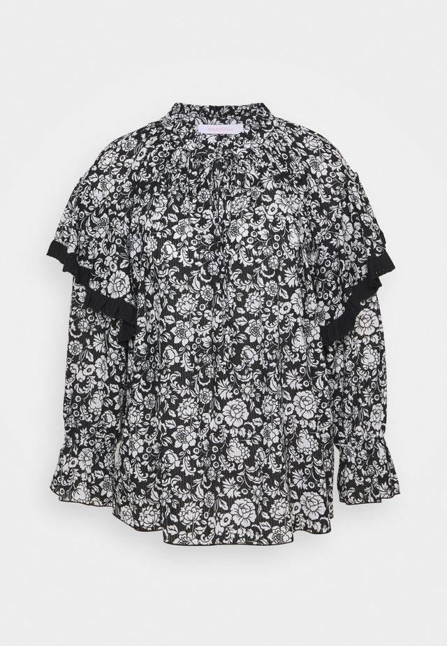Blouse - black/white