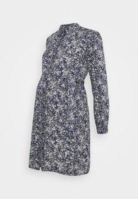 Pieces Maternity - PCMPAOLA DRESS - Shirt dress - blue - 4