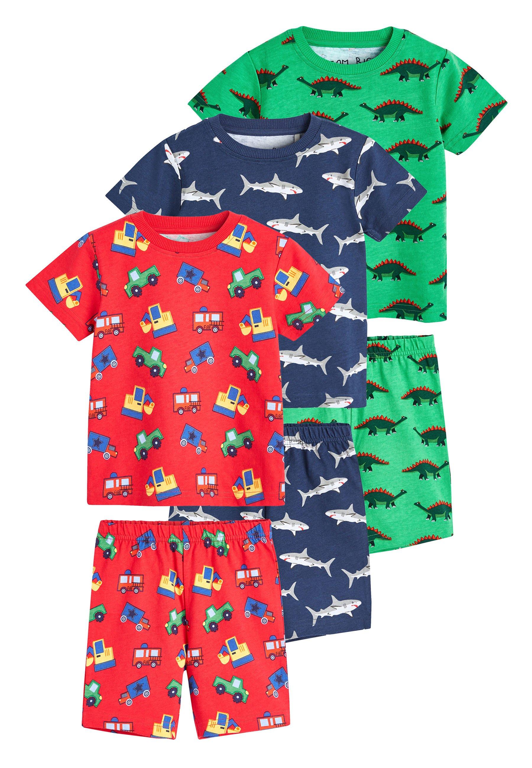 Niño 3 PACK MULTI PRINT SHORT PYJAMAS - Pijama