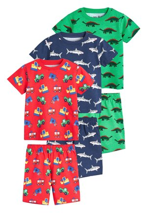 3 PACK MULTI PRINT SHORT PYJAMAS - Pyjama - red
