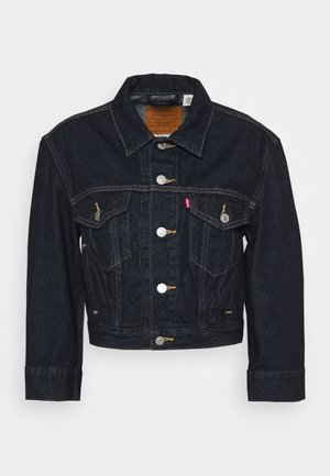 LOOSE SLEEVE TRUCKER - Spijkerjas - dark indigo