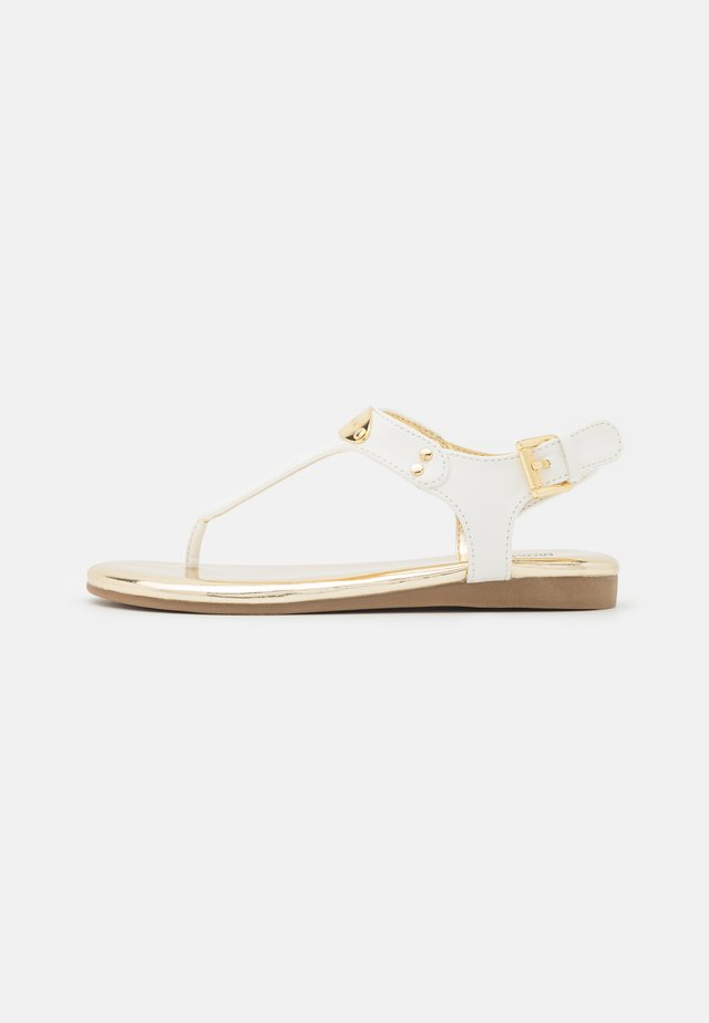 TILLY JANE - T-bar sandals - white smooth