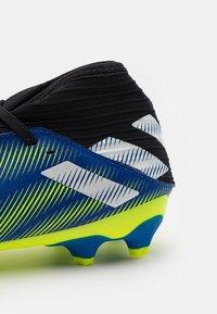 adidas Performance - NEMEZIZ .3 MG UNISEX - Moulded stud football boots - royal blue/footwear white/solar yellow - 5