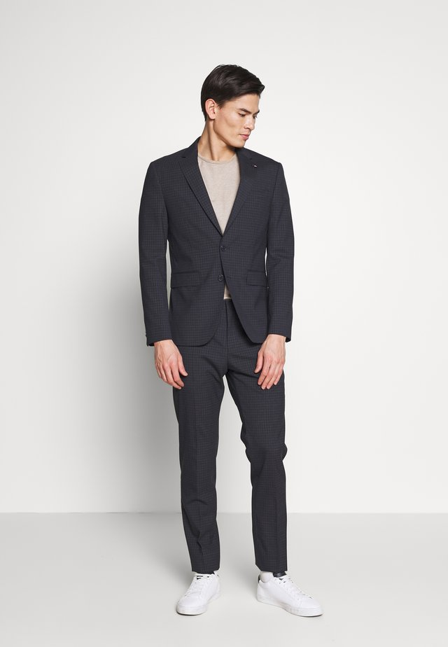 SMALL CHECK SLIM FIT SUIT  - Kostuum - grey