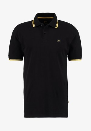 TWIN STRIPE NEW - Koszulka polo - black/yellow