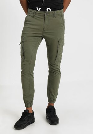 JJIPAUL JJFLAKE  - Cargo trousers - olive night