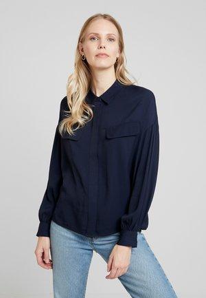 FOLIKA - Button-down blouse - simply blue