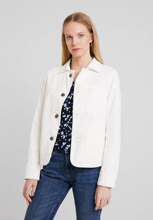 JACKET SLIM FIT - Summer jacket - soft white