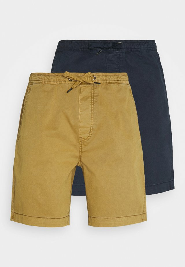 EXCLUSIVE BARNES 2 PACK - Shorts - navy / amber