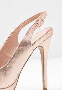 Miss Selfridge - PLATFORM COURT - Peeptoe heels - rose gold - 2