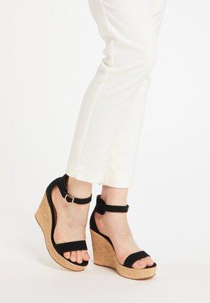 Sandały na obcasie - schwarz