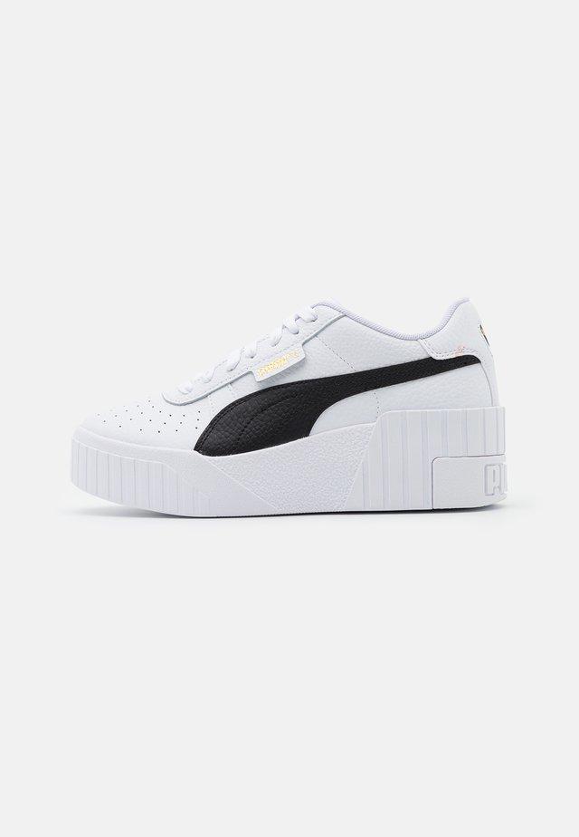 CALI WEDGE  - Sneakers basse - white/black
