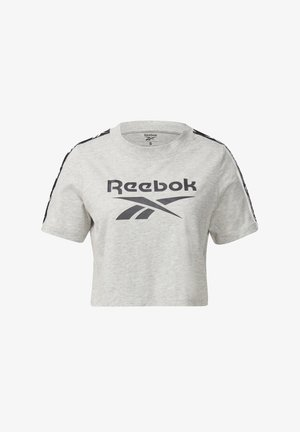 TAPE ESSENTIALS TRAINING SHORT SLEEVE - Print T-shirt - grey