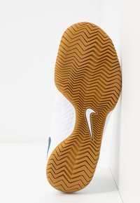 Nike Performance - COURT FLARE  - Clay court tennis shoes - white/valerian blue/oracle aqua - 4