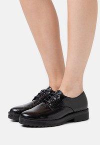 Anna Field - LEATHER - Šněrovací boty - black - 0