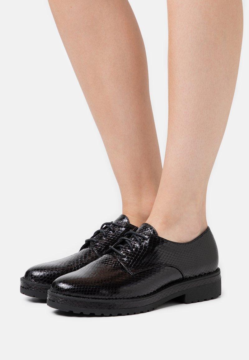 Anna Field - LEATHER - Šněrovací boty - black