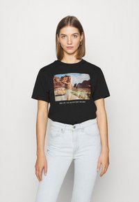 Even&Odd - Print T-shirt - black - 0