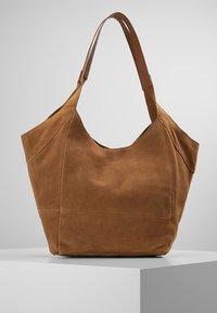 mint&berry - LEATHER - Tote bag - cognac - 0