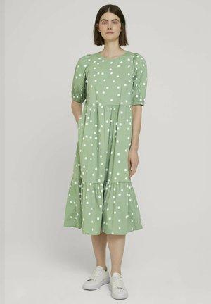 GEPUNKTETES - Day dress - green dot print