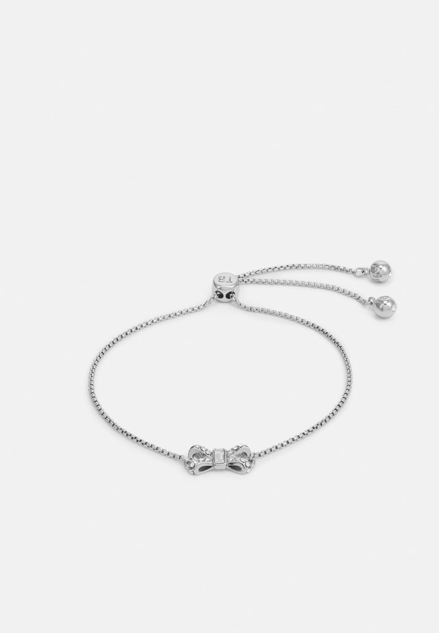 SABSAL SPARKLE BOW DRAWSTRING BRACELET - Rannekoru - silver-coloured/crystal