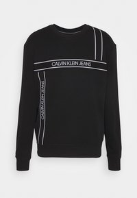 Calvin Klein Jeans - LOGO TAPE FASHION CREW NECK - Sweatshirt - black - 0