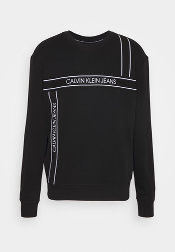 LOGO TAPE FASHION CREW NECK