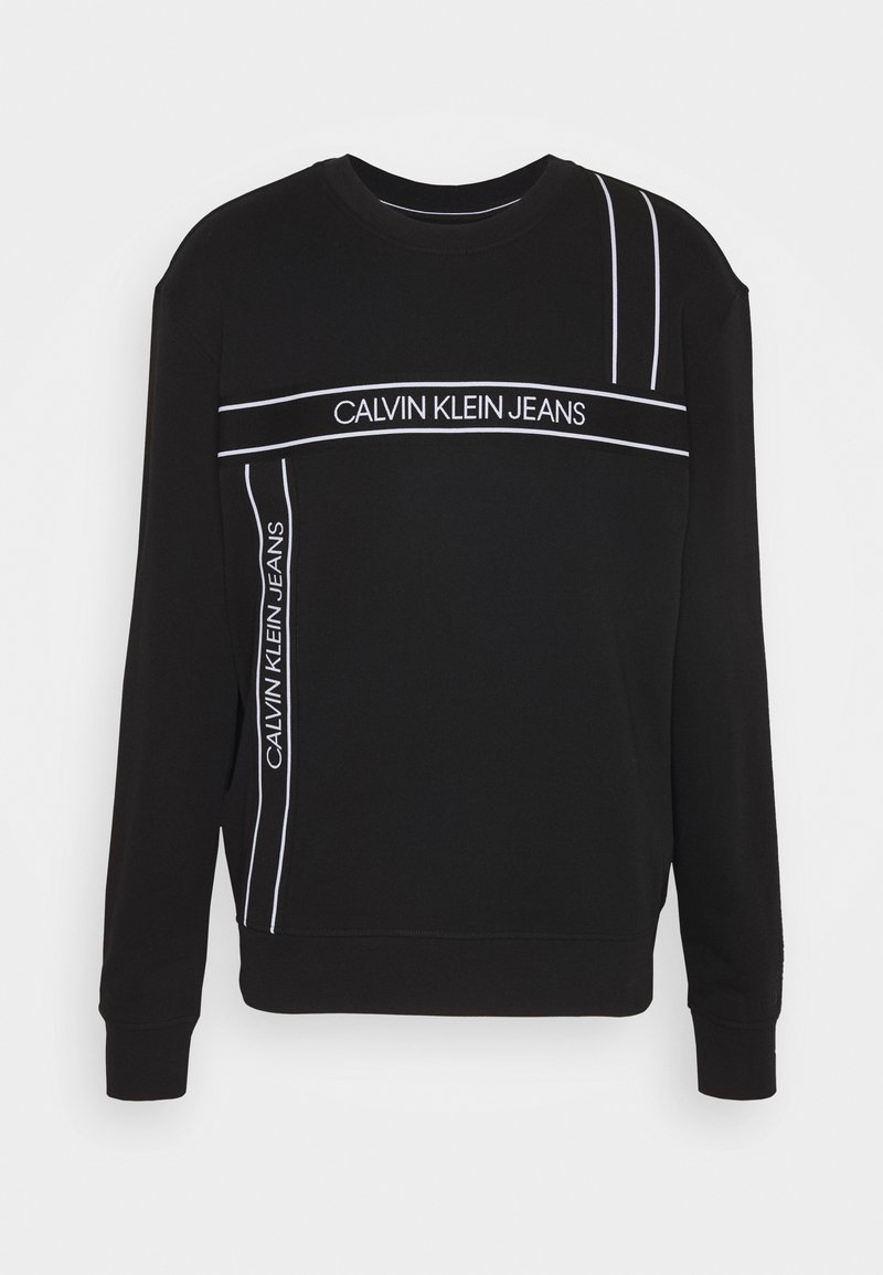 Calvin Klein Jeans - LOGO TAPE FASHION CREW NECK - Sweatshirt - black