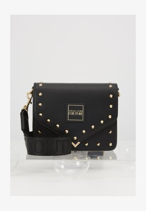 STUDDED FLAP OVER - Sac bandoulière - black