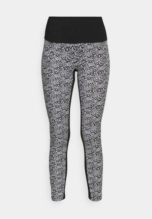 LOGO LUX - Leggings - Trousers - white/black