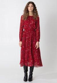 Indiska - Denní šaty - red - 0