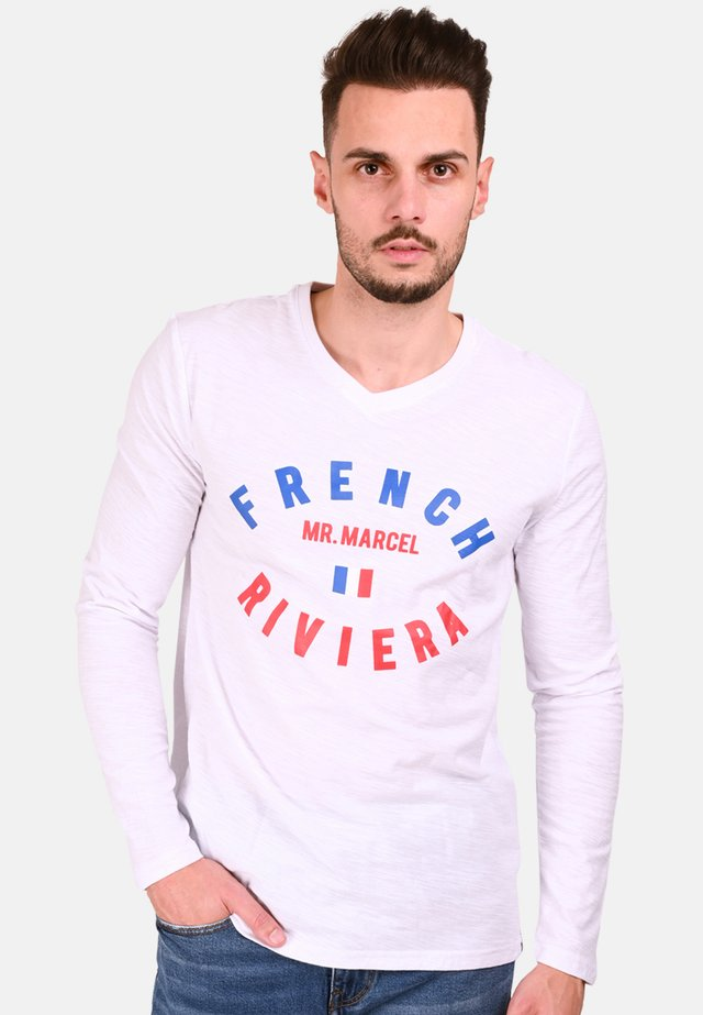FRENCH RIVIERA LOGO TICOSTUME  - Long sleeved top - white