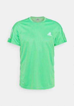 OWN THE RUNNING RESPONSE AEROREADY PRIMEGREEN T-SHIRT - Print T-shirt - semi screaming green