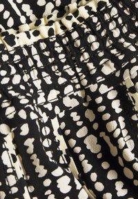 Proenza Schouler White Label - PRINTED GEORGETTE PLEATED SKIRT - Áčková sukně - black/ecru - 2