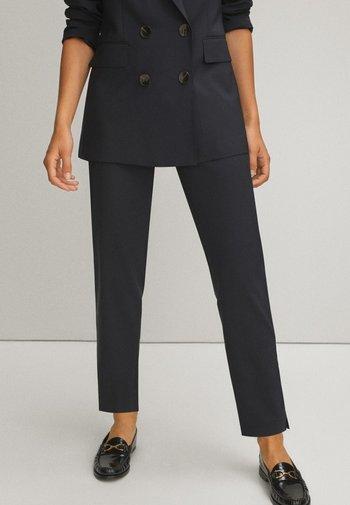 Spodnie materiałowe - blue/black denim
