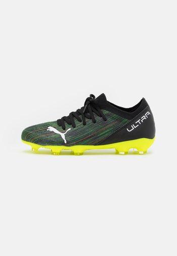 ULTRA 3.2 FG/AG JR UNISEX - Moulded stud football boots - black/white/yellow alert