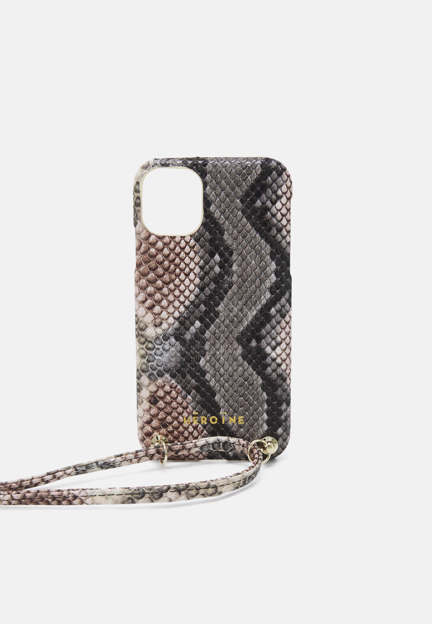 Women YUNA IPHONE 11 HANDYKETTE NECKLACE - Phone case - snake rose/grey