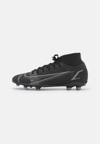 MERCURIAL 8 CLUB MG - Fotbollsskor fasta dobbar - black/iron grey