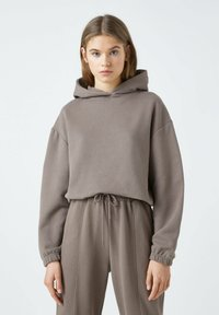 PULL&BEAR - Sweat à capuche - dark brown - 0