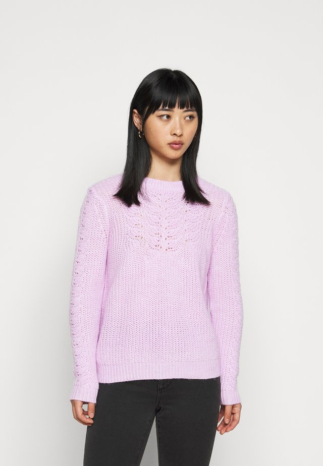 POINTELLE CABLE  - Sweter - lilac