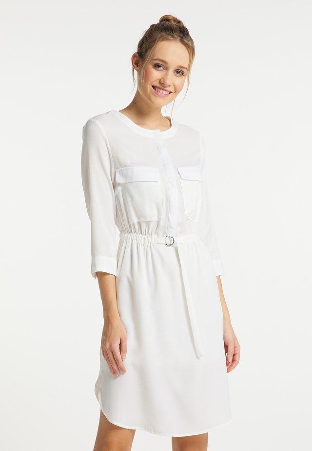 Korte jurk - weiss