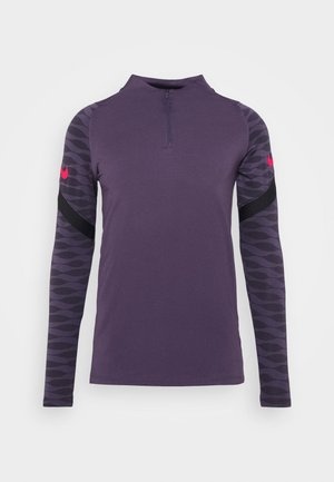 T-shirt sportiva - dark raisin/black/siren red