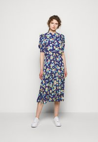 Lauren Ralph Lauren - DRAPEY POLY  - Denní šaty - blue multi - 0