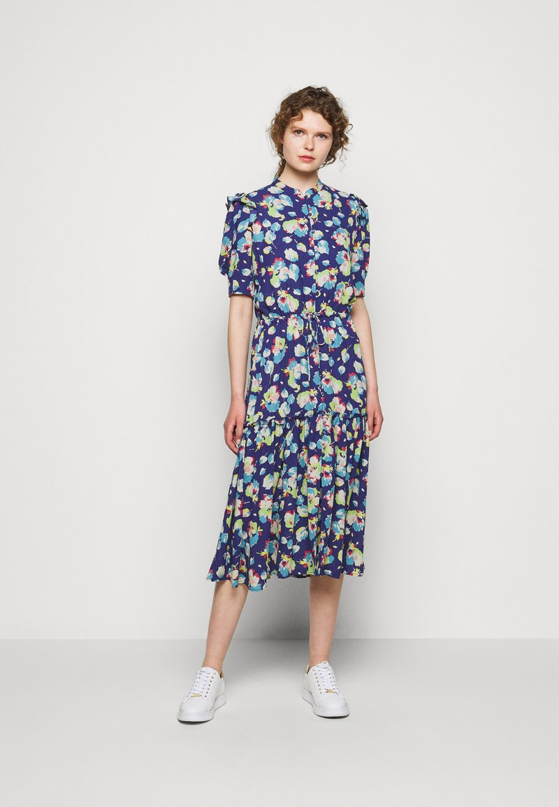 Lauren Ralph Lauren - DRAPEY POLY  - Denní šaty - blue multi