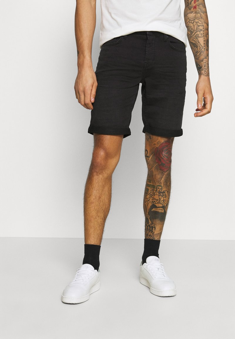 Only & Sons - ONSPLY LIFE - Denim shorts - black denim