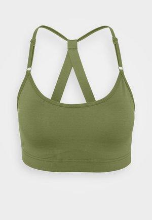 STRAPPY SPORTS BRA - Medium support sports bra - northern green