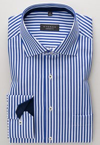 Eterna - COMFORT FIT - Shirt - blau/weiß - 4