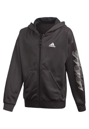 UP2MV AEROREADY LOOSE HOODIE - Mikina na zip - black