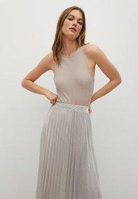 Mango - A-line skirt - silver - 3